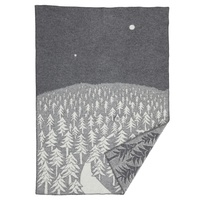 House in Forest blanket grey