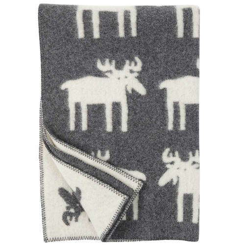 Moose Wool Blanket Small Grey