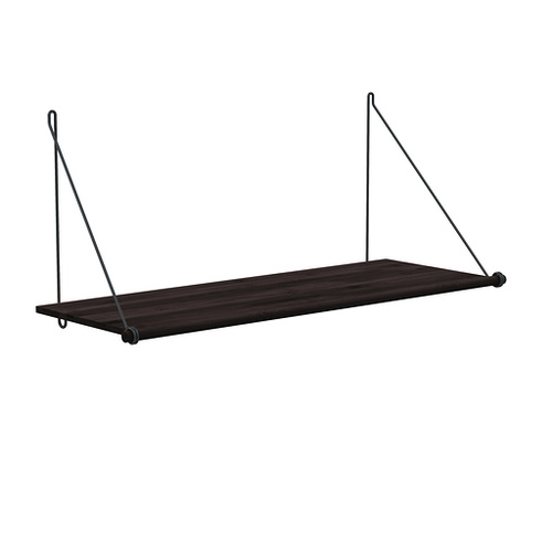 Loop Shelf Dark, Black Mounting Bracket