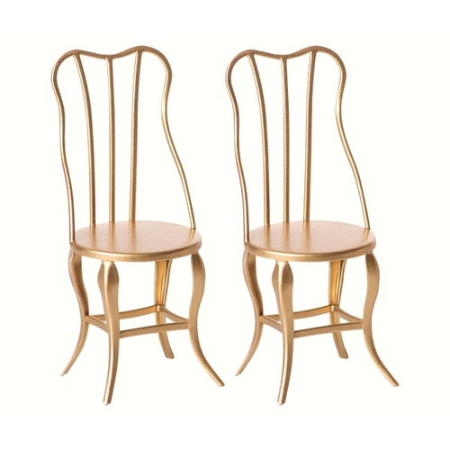 Vintage Chairs micro gold 2pcs