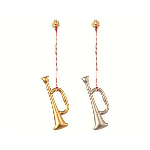 Trumpet Ornament metal D