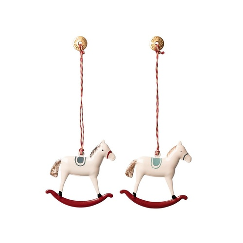 Ornament Rocking Horse Metal assorted