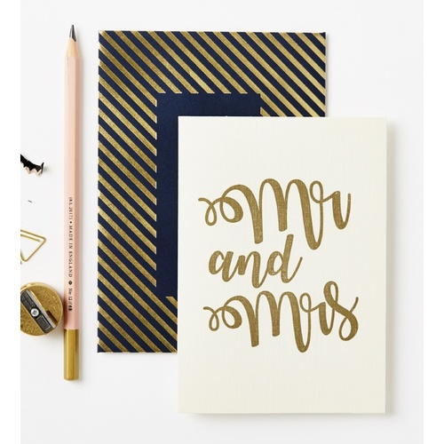 Gold Mr & Mrs Card
