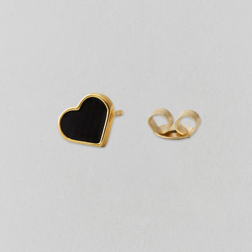 Heart Stud Gold