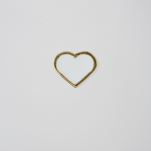 Heart Charm Gold White
