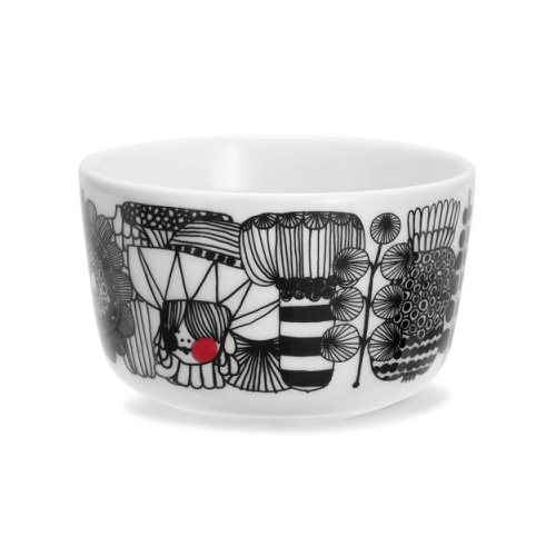 Oiva bowl multi 2.5dl blk-wht