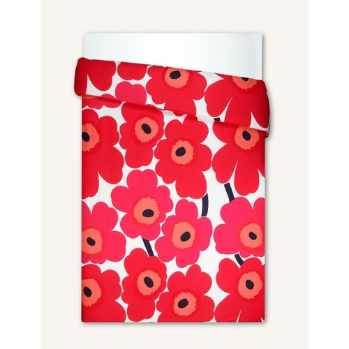 Unikko Duvet Cover red 210 D