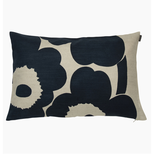 Unikko Cushion Cover 40x60 dark blue-linen