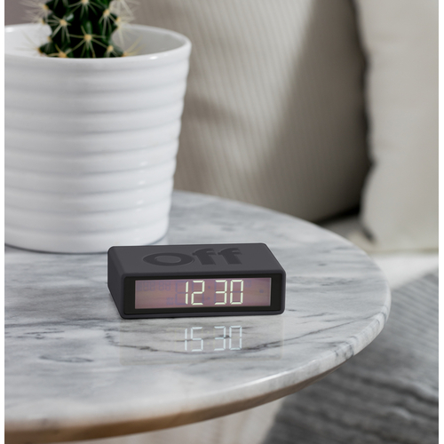 Flip Clock Alarm dark grey