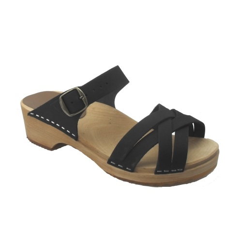 Sandal Black Matte Low